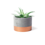 Concrete Planter: Bronze Short Cylinder