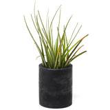 Concrete Planter: Carbon Black Tall Cylinder
