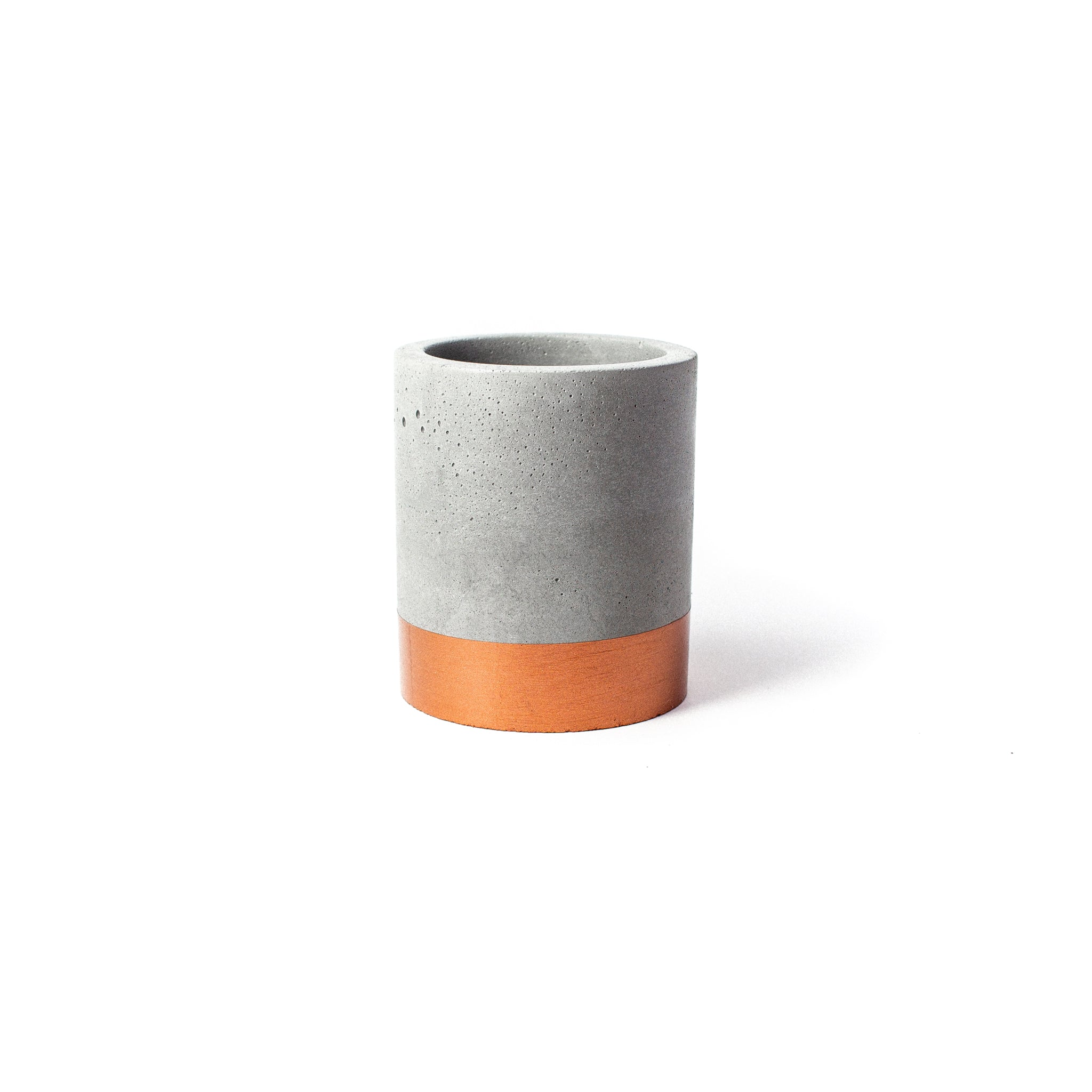 Concrete Planter: Bronze Tall Cylinder