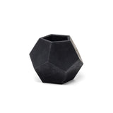 Concrete Dodecahedron Planter: Carbon Black