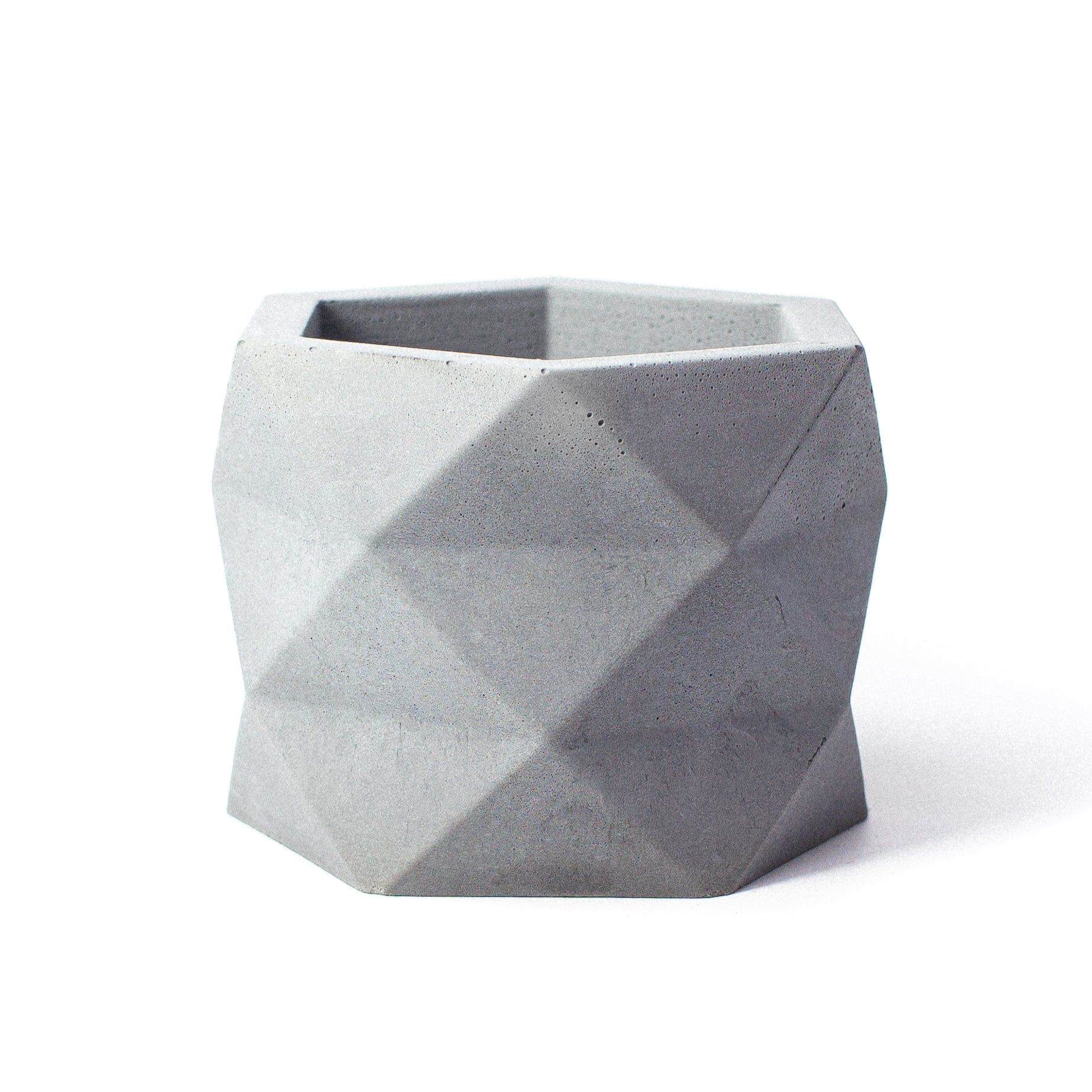 Concrete Geometric Planter: Large