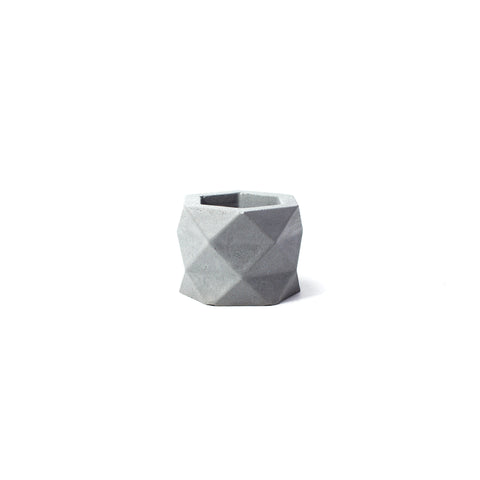 Concrete Geometric Planter: Small