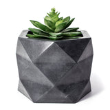 Concrete Geometric Planter: Carbon Black X-Large