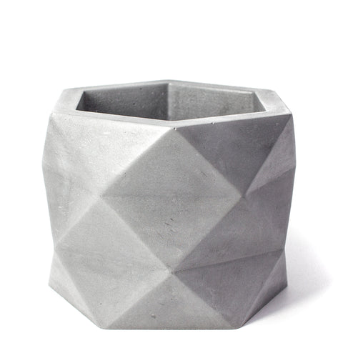 Concrete Geometric Planter: X-Large
