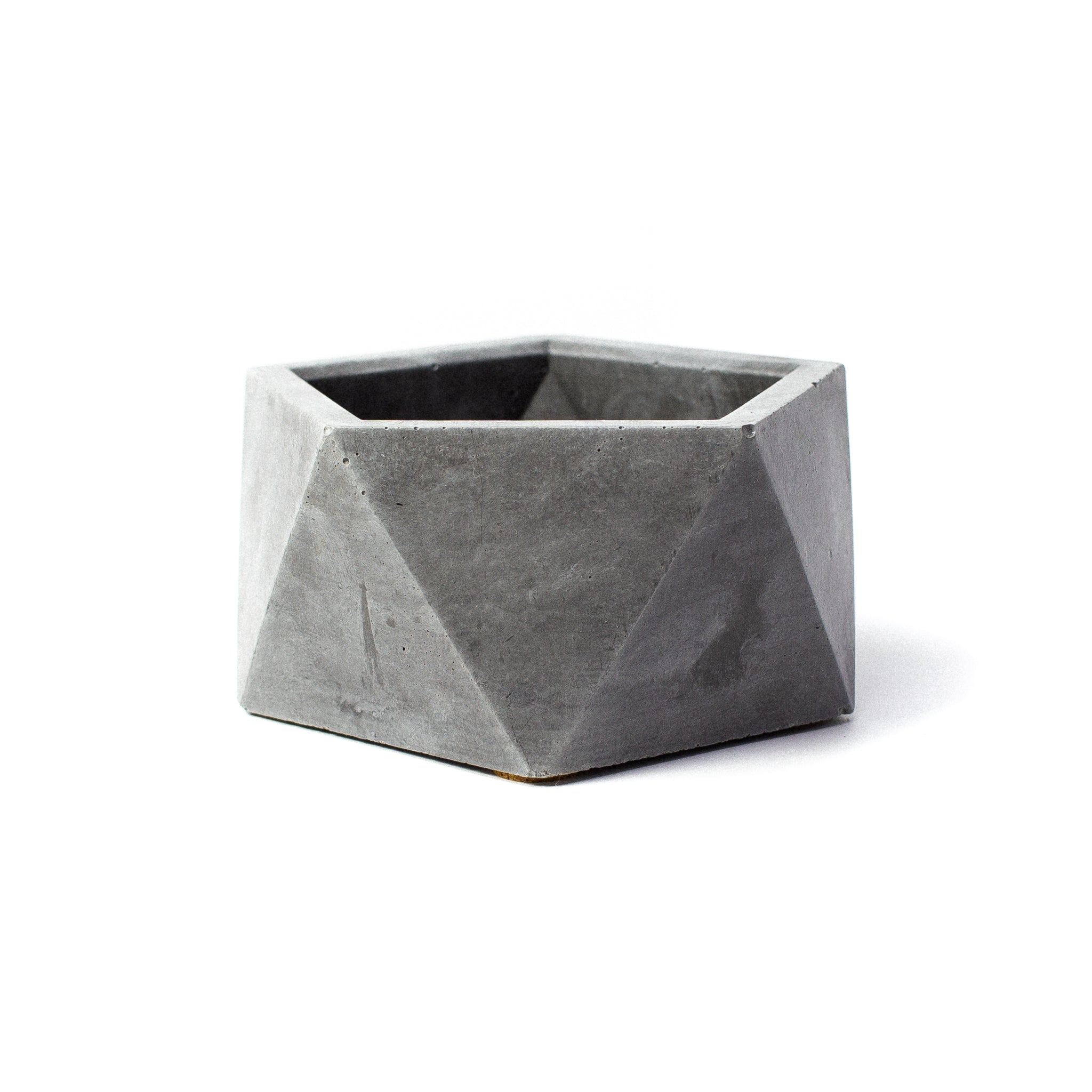 Concrete Icosahedron Planter: Small
