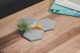 Concrete Hexagon Coaster: Gold