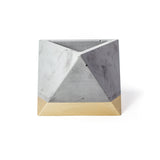 Concrete Octahedron Planter: Gold