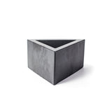 Concrete Triangular Prism Planter: Carbon Black