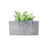 Concrete Triangular Prism Planter