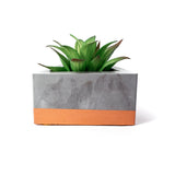 Concrete Triangular Prism Planter: Bronze