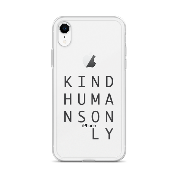 Kind Humans Only iPhone Case
