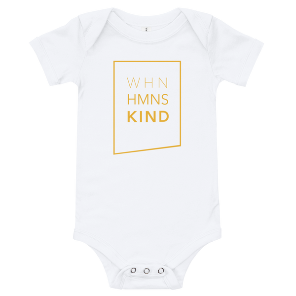 When Humans Kind Classic Onesie
