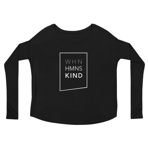 When Humans Kind Classic Women's Long Sleeve