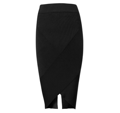 Bandage Black V Front skirt
