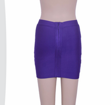 Bandage Purple short skirt