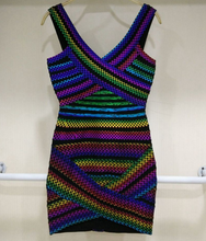 Bandage Purple multi mini dress
