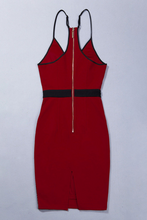 Red Wine Bandage Dress
