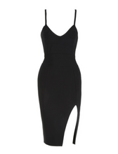 Bandage Black dress with slit on the side