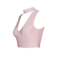 Bandage Blush Crop Top/ V Neck