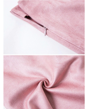 Suede pink skirt