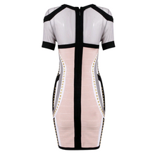 Bandage Embellished Mesh Dress