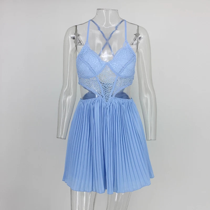 Sky Blue Cut Out Romper