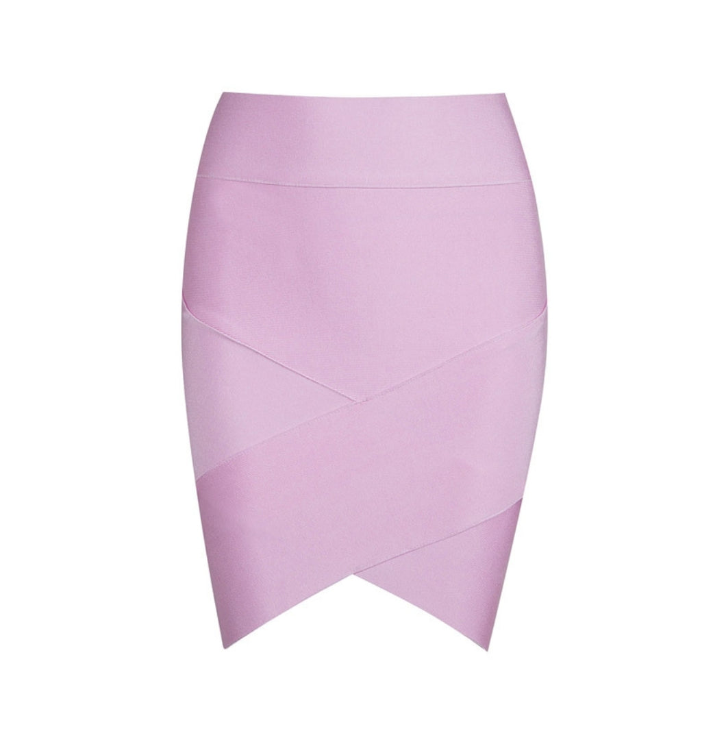 Bandage Pink Mini Skirt