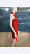 Bandage Choker Red Dress