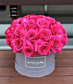 Gorgeous Pink Floyd Roses in a Signature Grey Box