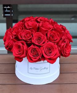 Sexy Red Roses in a Signature White Box