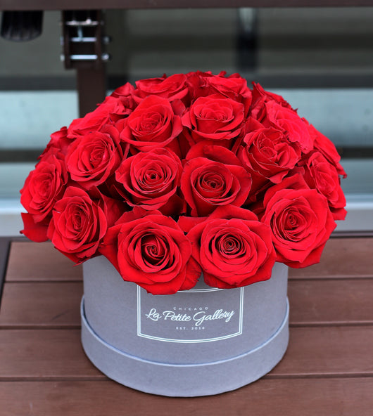 Sexy Red Roses in a Signature Grey Box