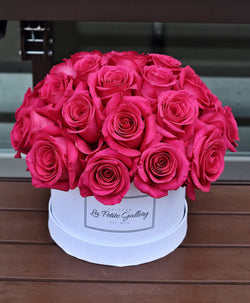 Gorgeous Pink Floyd Roses in a Signature White Box
