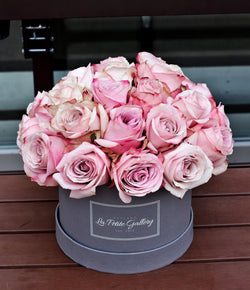Secret Garden Light Pink Roses in a Signature Grey Box