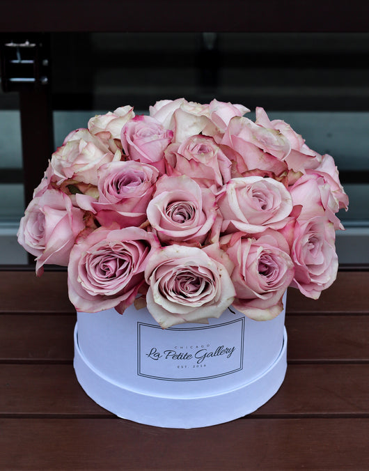 Secret Garden Light Pink Roses in a Signature White Box