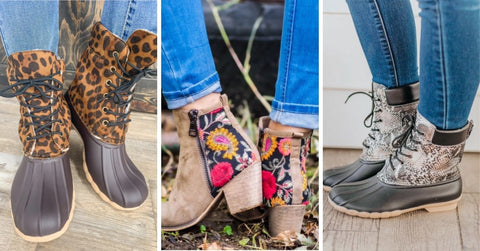 printed boots women's style