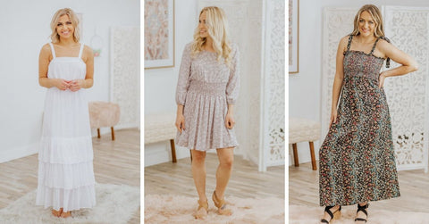 Neutral Easter Dresses