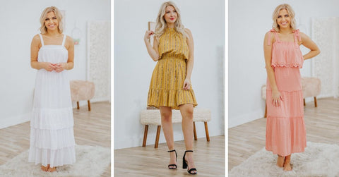 spring ruffled dresses