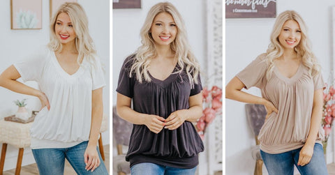 neutral casual women's tops