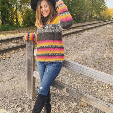 striped sweater fall