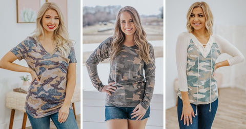 Cute Camouflage T-Shirts