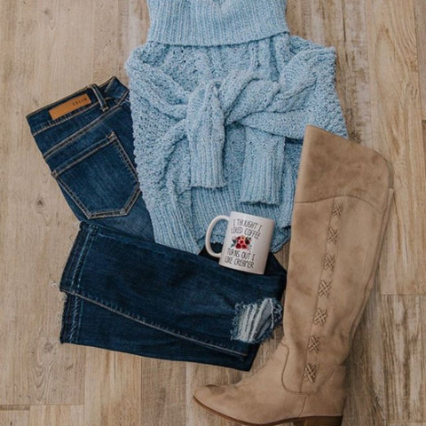 boutique sweater outfit