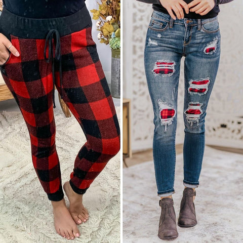 womens plaid pants