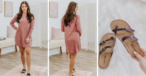 blush sweater dress