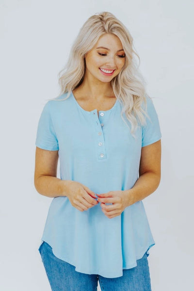 blue summer top