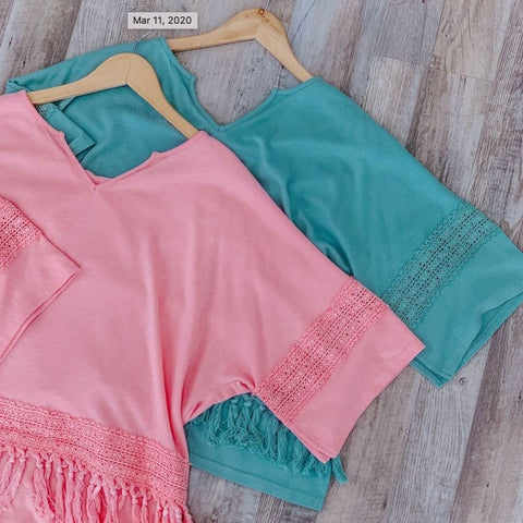 teal blue summer crop top