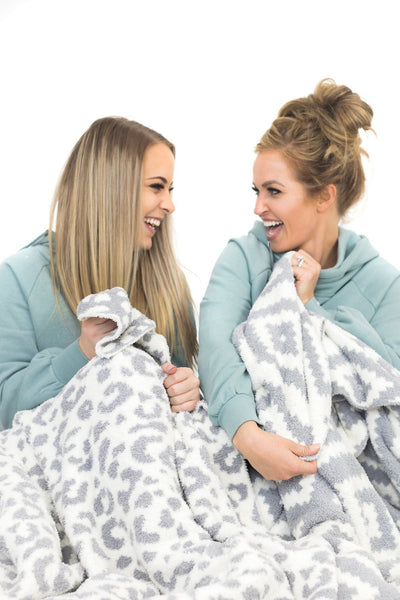 FOR THE COZY COOL NIGHTS BLANKET IN WHITEGREY