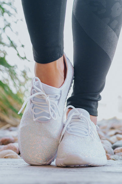 SPARKLING BRIGHT SNEAKERS IN WHITE
