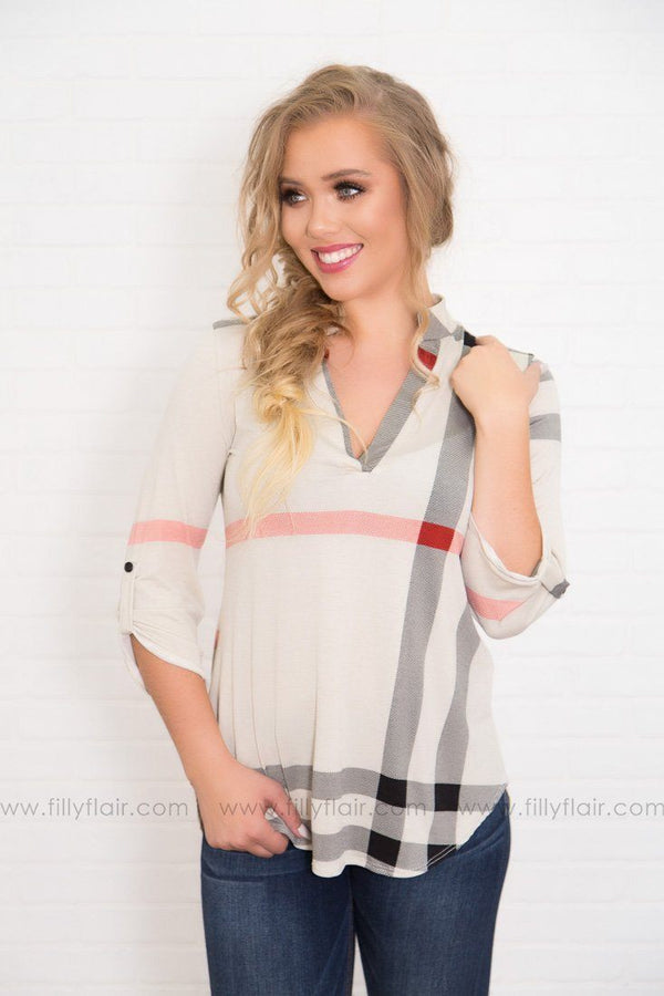 The Original Plaid Top in Ivory