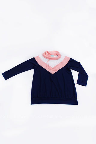 Every Afternoon Chevron Cowl Neck Sweatshirt