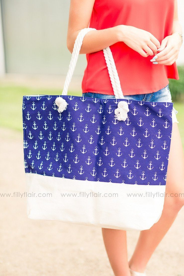 Anchors Away Bag In Navy